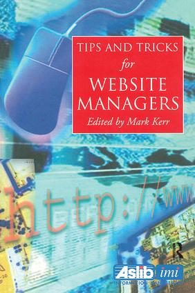 Tips and Tricks for Web Site Managers book cover