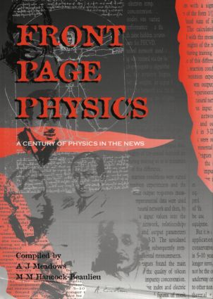 Front Page Physics: A Century of Physics in the News, 1st Edition (Hardback) book cover