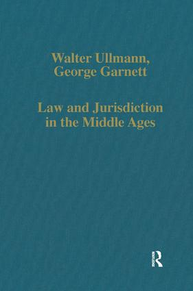 Law and Jurisdiction in the Middle Ages: 1st Edition (Hardback) book cover