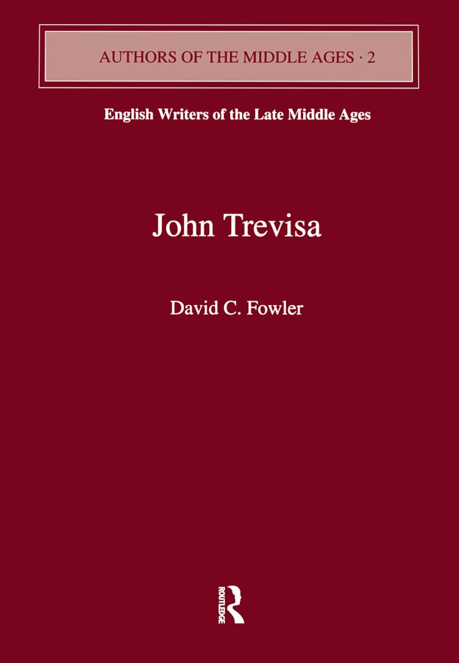 John Trevisa: 1st Edition (Paperback) book cover