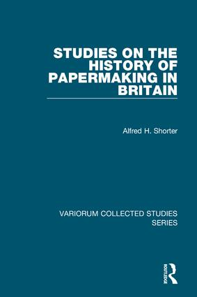Studies on the History of Papermaking in Britain: 1st Edition (Hardback) book cover