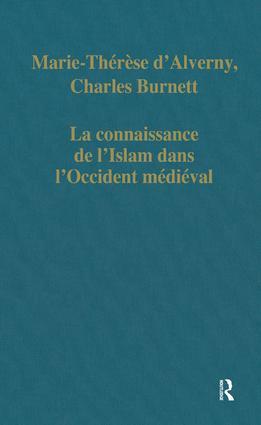 La connaissance de l'Islam dans l'Occident médiéval: 1st Edition (Hardback) book cover