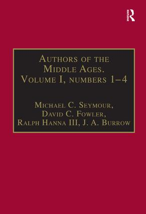 Authors of the Middle Ages. Volume I, Nos 1–4: English Writers of the Late Middle Ages book cover