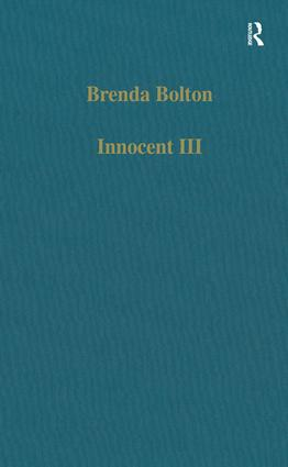 Innocent III: Studies on Papal Authority and Pastoral Care, 1st Edition (Hardback) book cover