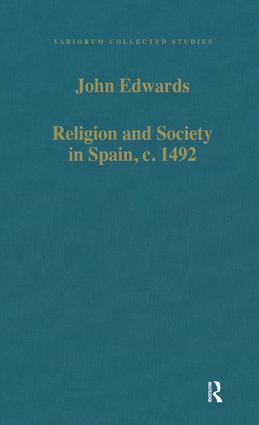 Religion and Society in Spain, c. 1492 book cover