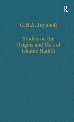 Studies on the Origins and Uses of Islamic Hadith book cover