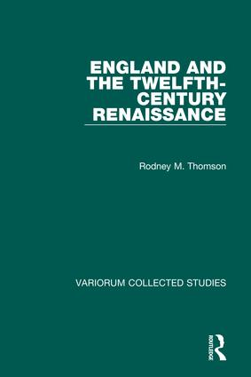 England and the Twelfth-Century Renaissance: 1st Edition (Hardback) book cover