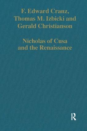 Nicholas of Cusa and the Renaissance: 1st Edition (Hardback) book cover