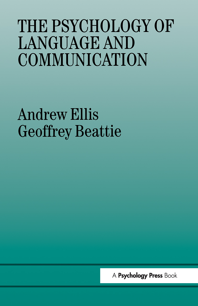 The Psychology of Language And Communication (Paperback) book cover