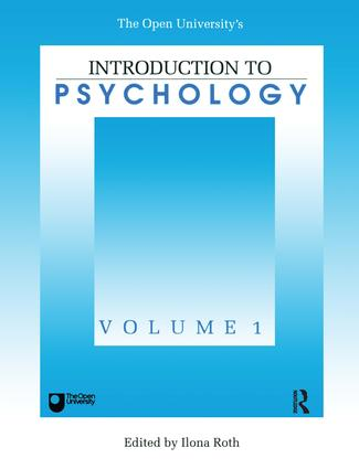 Introduction To Psychology: Vol 1 book cover