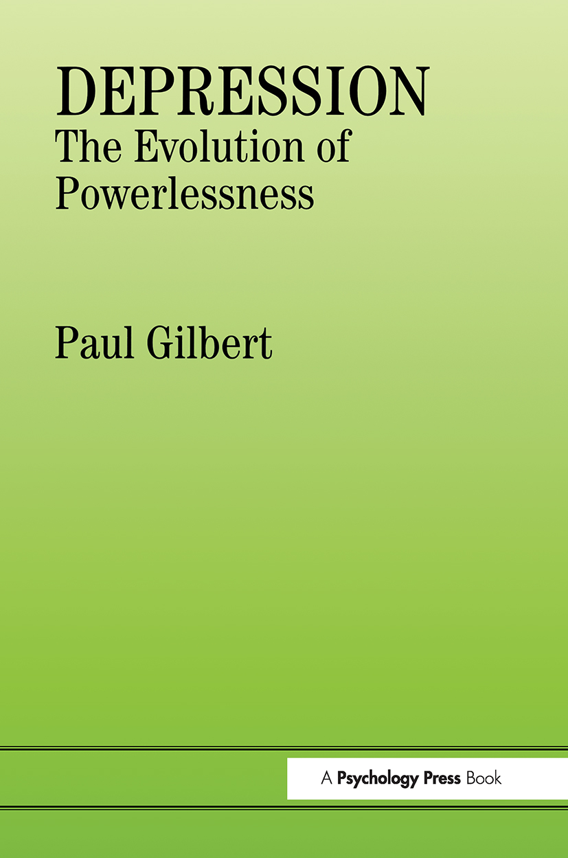 Depression: The Evolution of Powerlessness, 1st Edition (Paperback) book cover