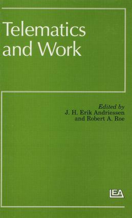 Telematics and Work (Hardback) book cover