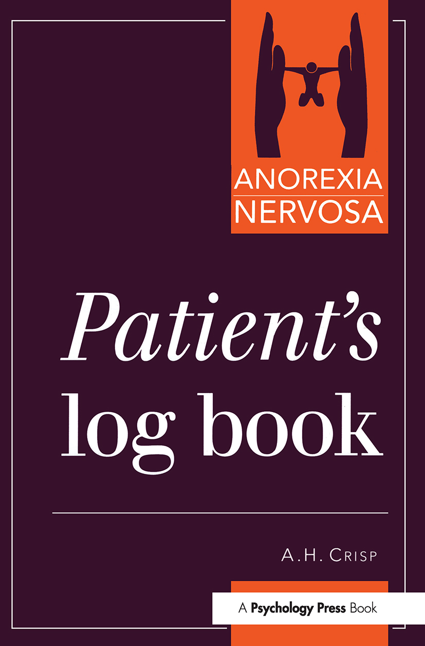 Anorexia Nervosa: Patient's Log Book (Paperback) book cover
