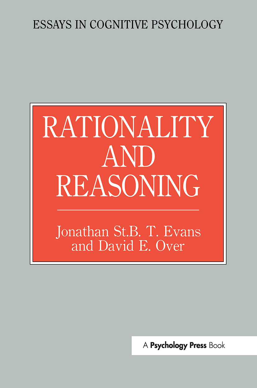 Rationality and Reasoning book cover