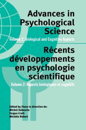 Advances in Psychological Science, Volume 2: Biological and Cognitive Aspects (Hardback) book cover