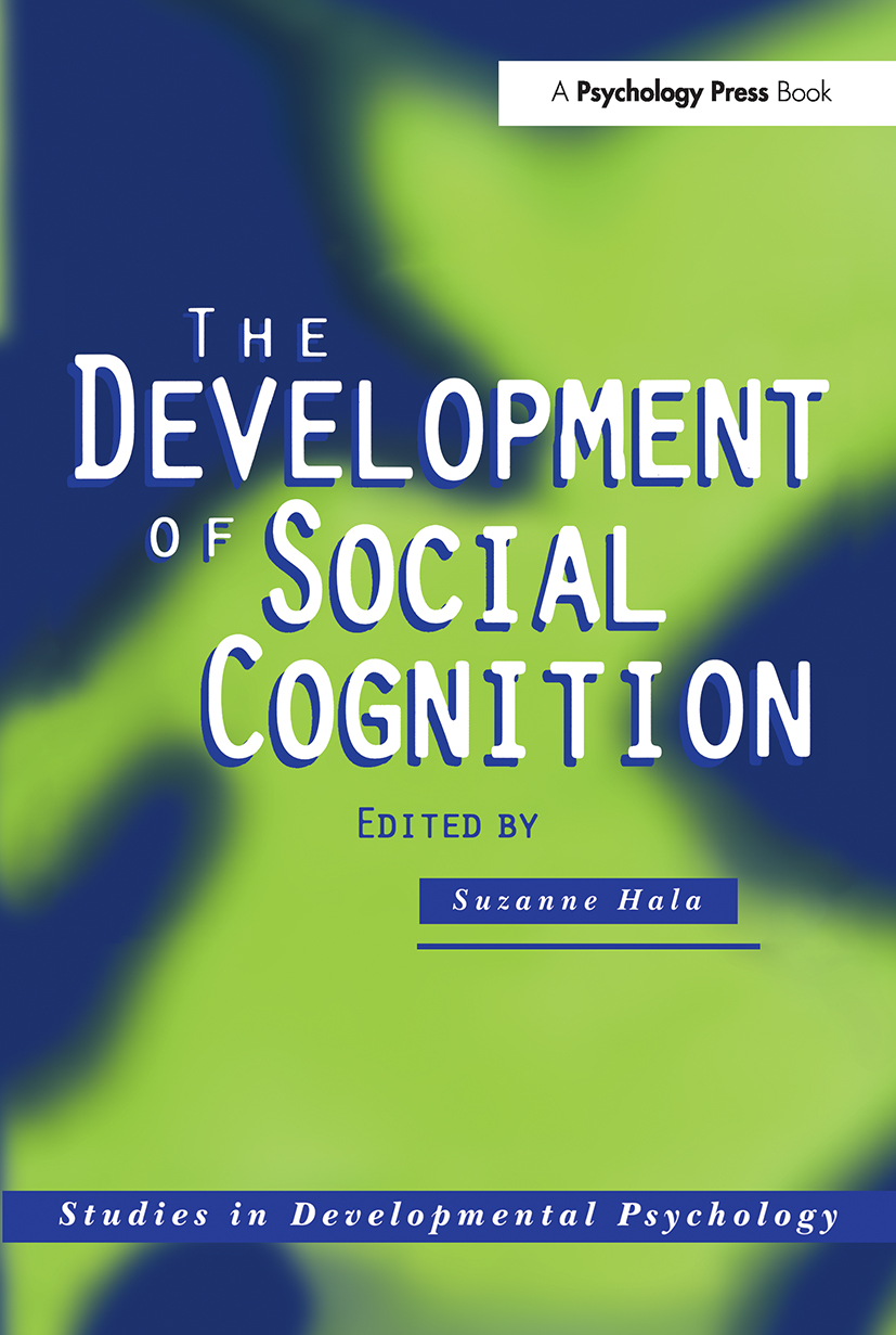 The Development of Social Cognition (Paperback) book cover
