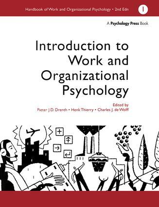 A Handbook of Work and Organizational Psychology: Volume 1: Introduction to Work and Organizational Psychology, 1st Edition (Hardback) book cover