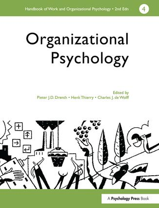 A Handbook of Work and Organizational Psychology: Volume 4: Organizational Psychology, 1st Edition (Paperback) book cover