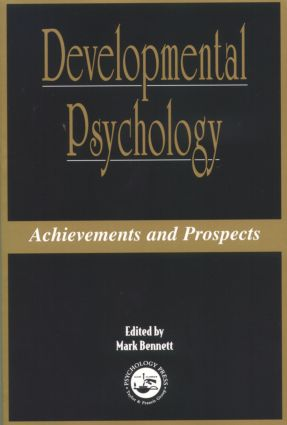 Developmental Psychology: Achievements and Prospects (Paperback) book cover