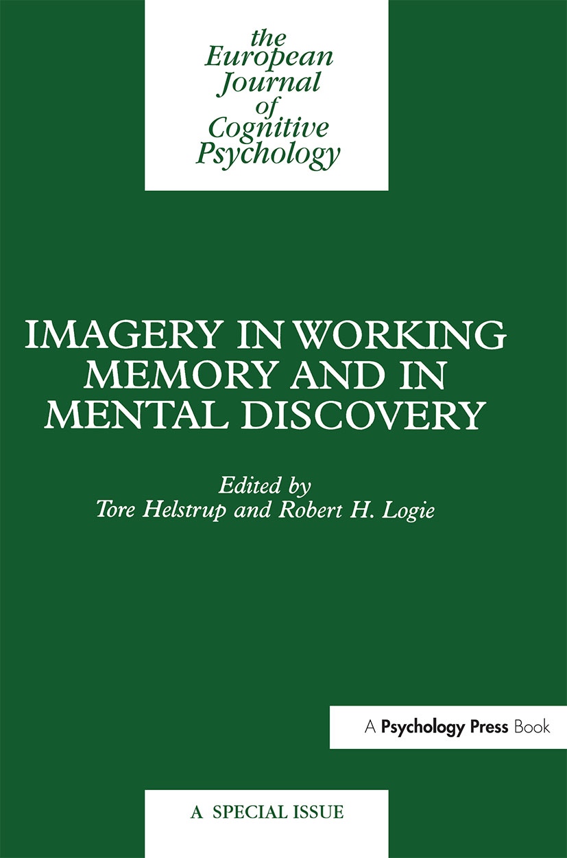 Imagery in Working Memory and Mental Discovery: A Special Issue of the European Cognitive Psychology (Hardback) book cover