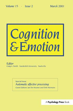Automatic Affective Processing: A Special Issue of Cognition and Emotion, 1st Edition (Paperback) book cover