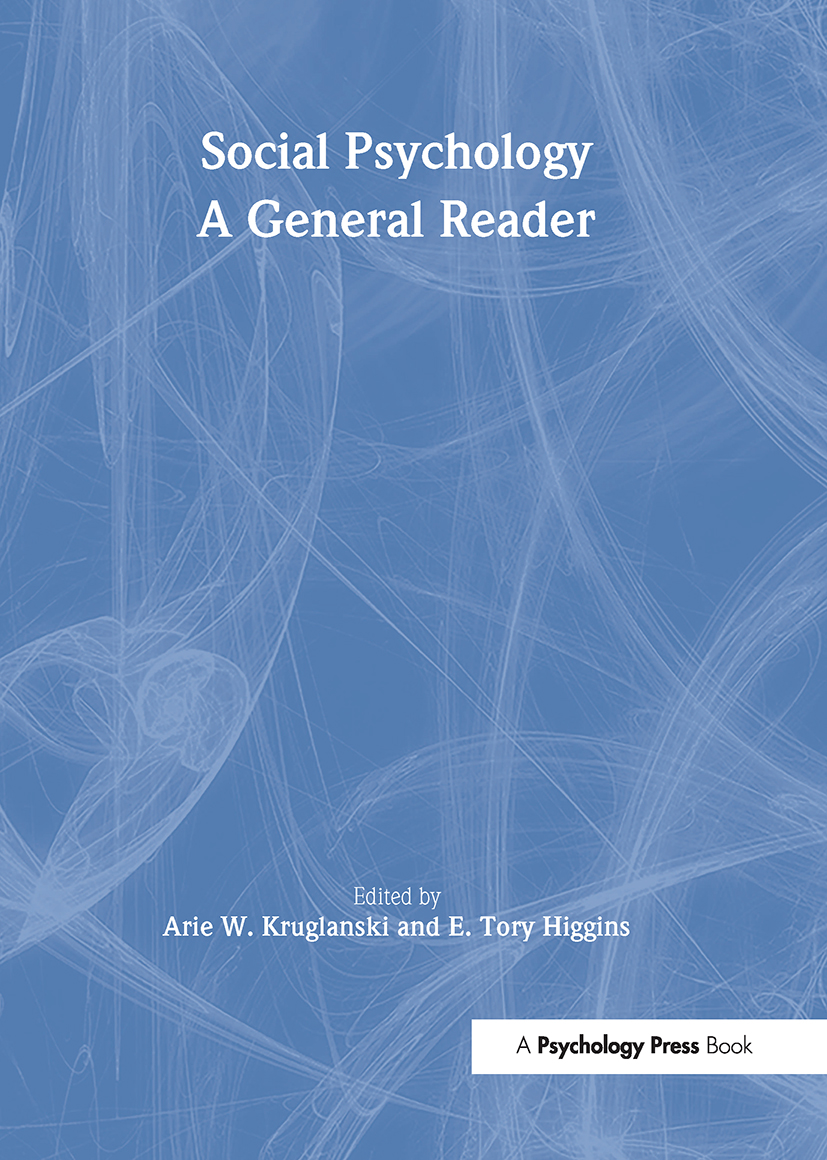 Social Psychology: A General Reader book cover