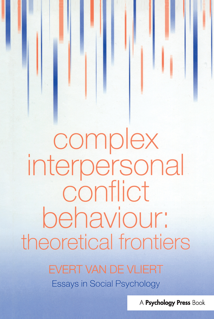 Complex Interpersonal Conflict Behaviour: Theoretical Frontiers (Hardback) book cover