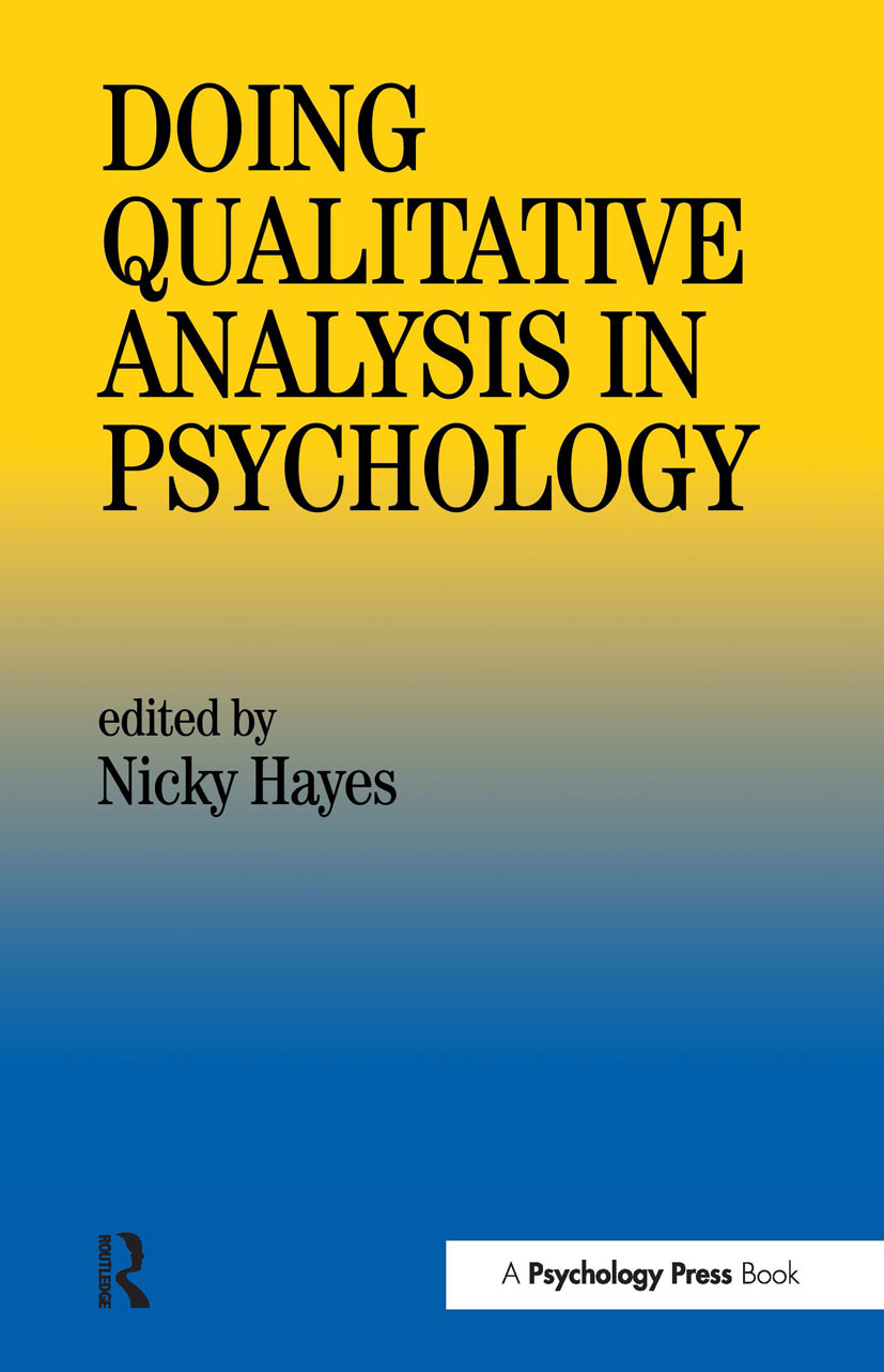 Doing Qualitative Analysis In Psychology (Paperback) book cover