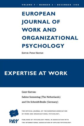 Expertise At Work: A Special Issue of the European Journal of Work and Organizational Psychology, 1st Edition (Paperback) book cover