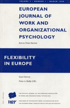 Flexibility in Europe: A Special Issue of the European Journal of Work and Organizational Psychology book cover