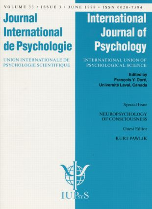 Neuropsychology of Consciousness: A Special Issue of the International Journal of Psychology book cover