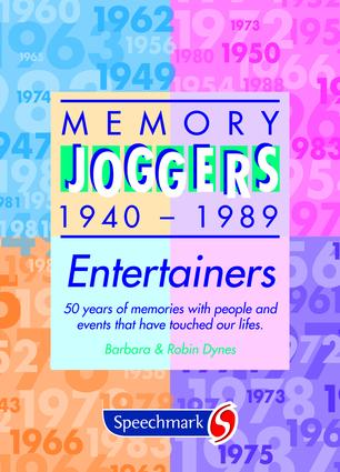 Memory Joggers: Entertainers, 1st Edition (Flashcards) book cover