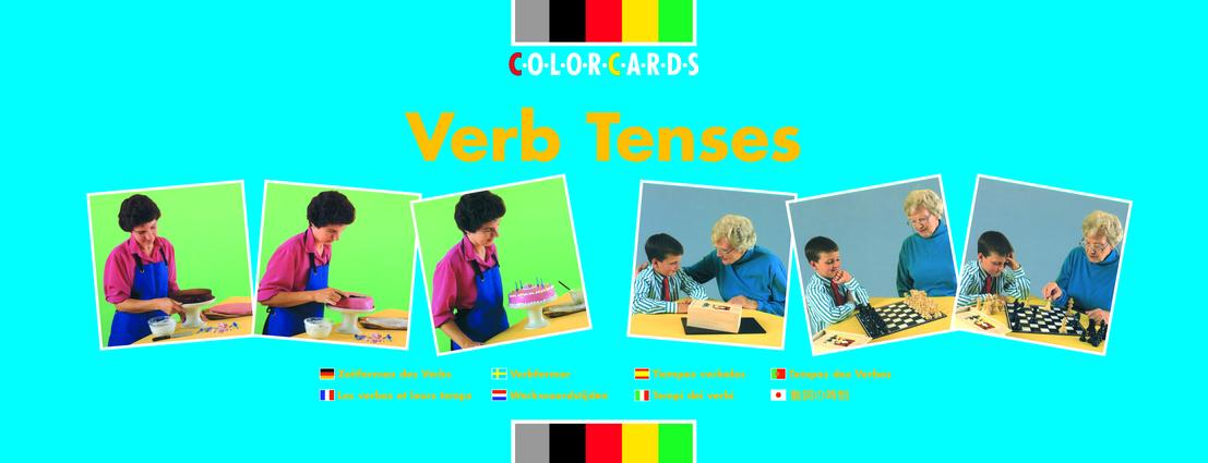 Verb Tenses: Colorcards: 1st Edition (Flashcards) book cover