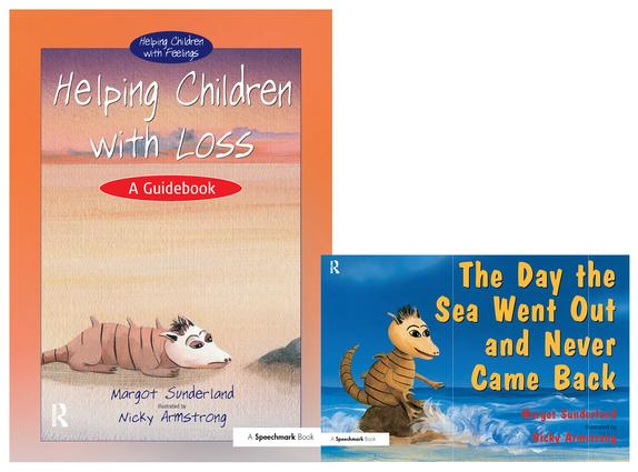 Helping Children with Loss & The Day the Sea Went Out and Never Came Back: Set book cover