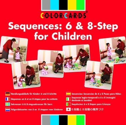 Sequences: Colorcards: 6 and 8- Step for Children (Flashcards) book cover