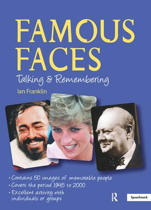 Famous Faces: Talking and Remembering, 1st Edition (Flashcards) book cover