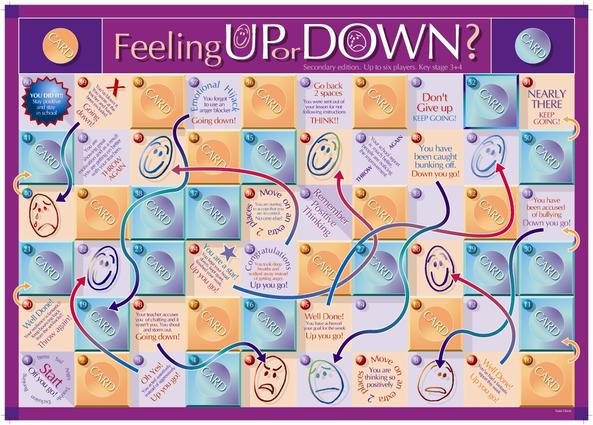 Feeling Up or Feeling Down Game Secondary: 1st Edition (Games) book cover