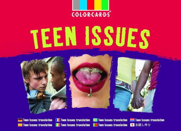 Teen Issues: Colorcards: 1st Edition (Flashcards) book cover