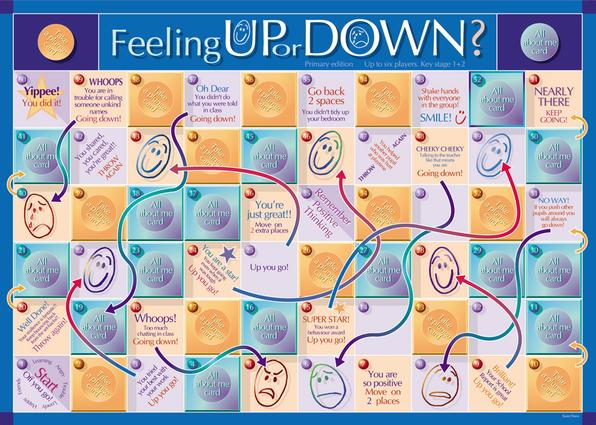 Feeling Up or Down Game Primary: 1st Edition (Games) book cover