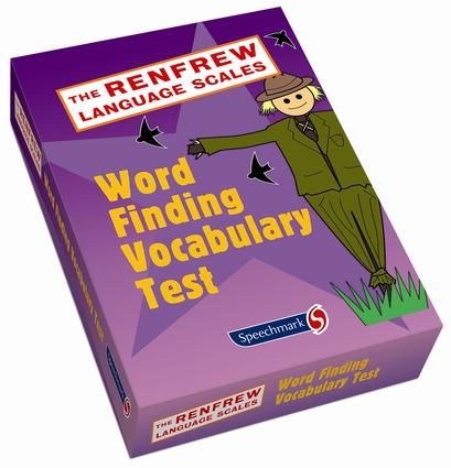Word Finding Vocabulary Test: 1st Edition (Flashcards) book cover