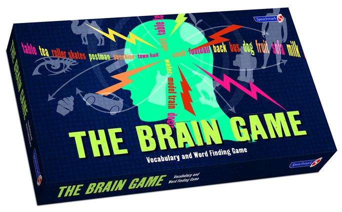 The Brain Game!: The Word Finding and Vocabulary Game, 1st Edition (Games) book cover