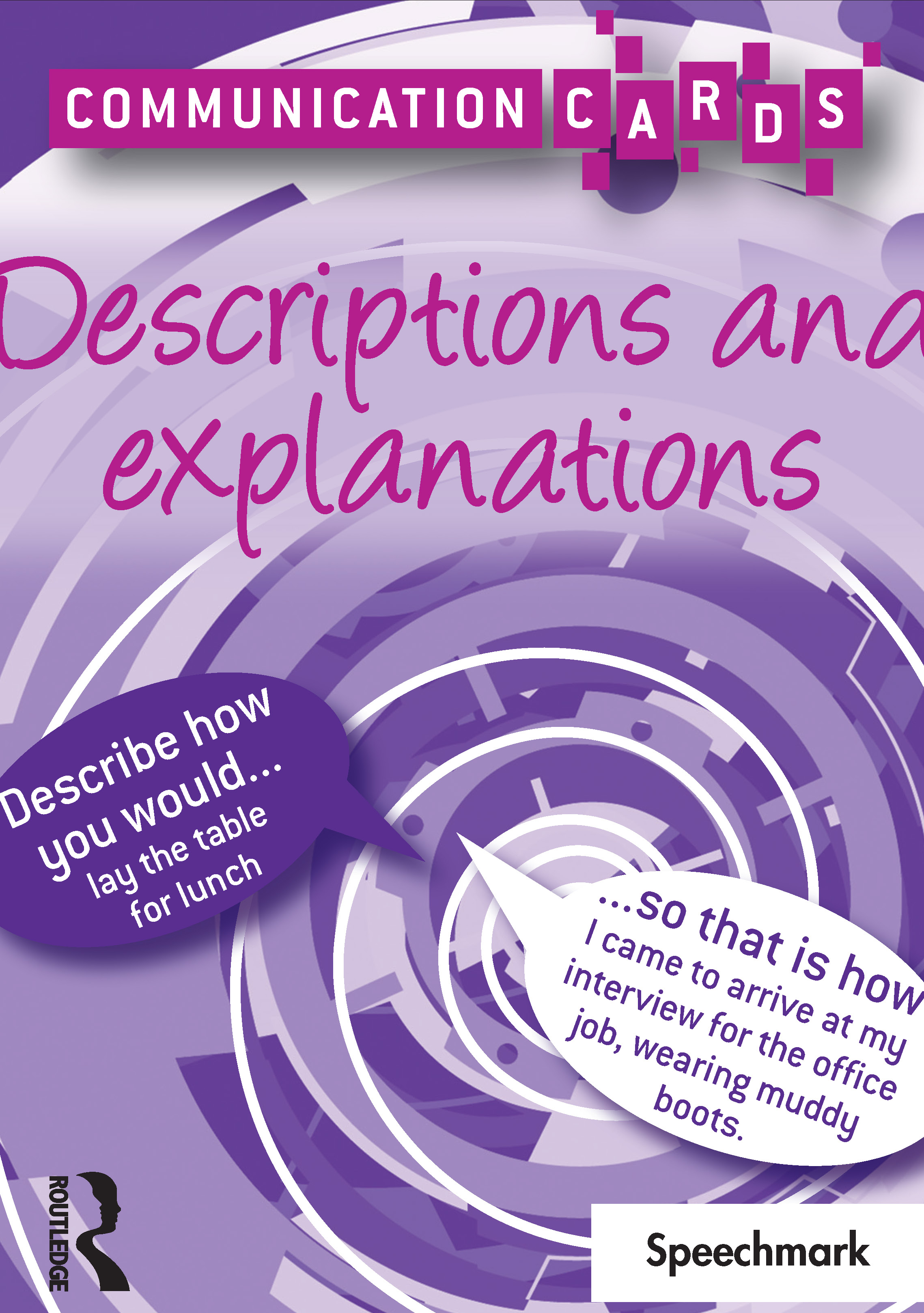 Descriptions and Explanations - Communication Cards: 1st Edition (Flashcards) book cover