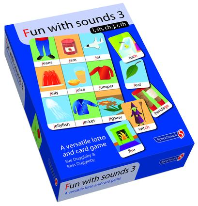 Fun with Sounds 3: Sh, Ch, J, Th, L, R, 1st Edition (Flashcards) book cover