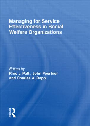 Managing for Service Effectiveness in Social Welfare Organizations (Hardback) book cover