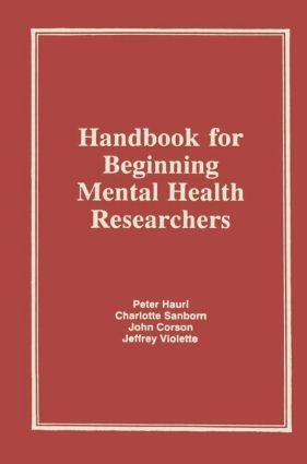 Handbook for Beginning Mental Health Researchers: 1st Edition (Hardback) book cover