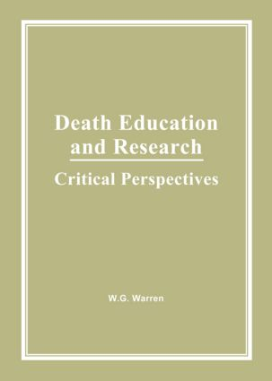 Death Education and Research: Critical Perspectives (Hardback) book cover