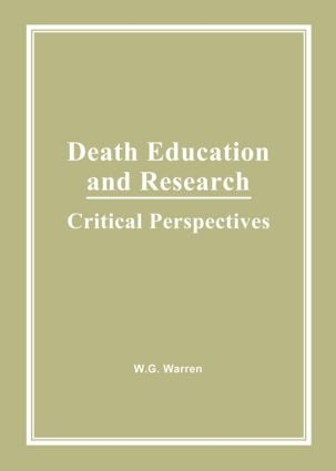 Death Education and Research: Critical Perspectives, 1st Edition (Hardback) book cover