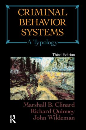 Criminal Behavior Systems: A Typology, 3rd Edition (Paperback) book cover