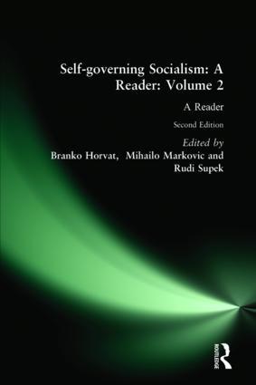Self-governing Socialism: A Reader: v. 2: A Reader, 2nd Edition (Hardback) book cover