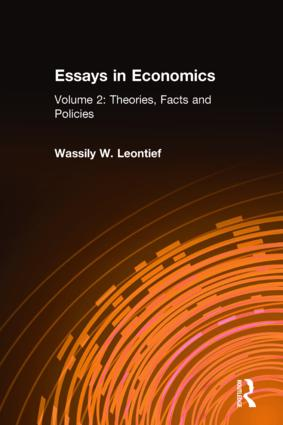 Essays in Economics: v. 2: Theories, Facts and Policies: 1st Edition (Hardback) book cover